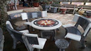 bàn ghế công viên