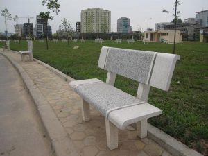 ghế đá 2 màu