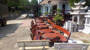 bàn ghế đá giả gỗ ml23