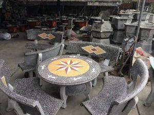 bán bàn ghế đá sân vườn giá sỉ nm4