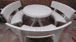 bàn ghế đá granite