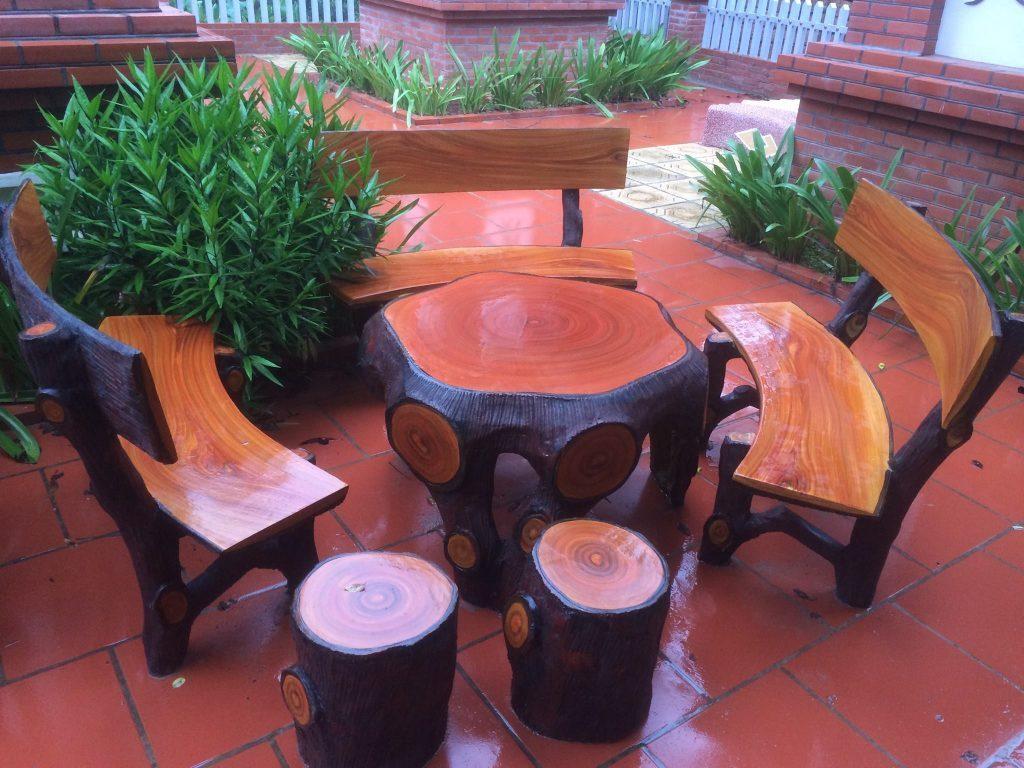 bàn ghế đá granito hà nội 2