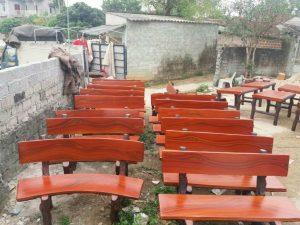 ghế đá giả gỗ bao nhiêu