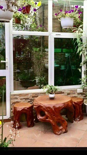 bàn ghế đá giả gỗ giá sỉ