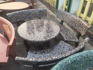 bộ bàn ghế đá sân vườn th5