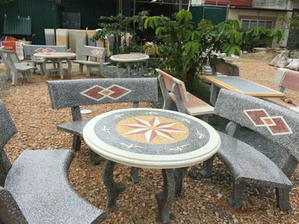 bàn ghế đá sân vườn mls mai lan 1