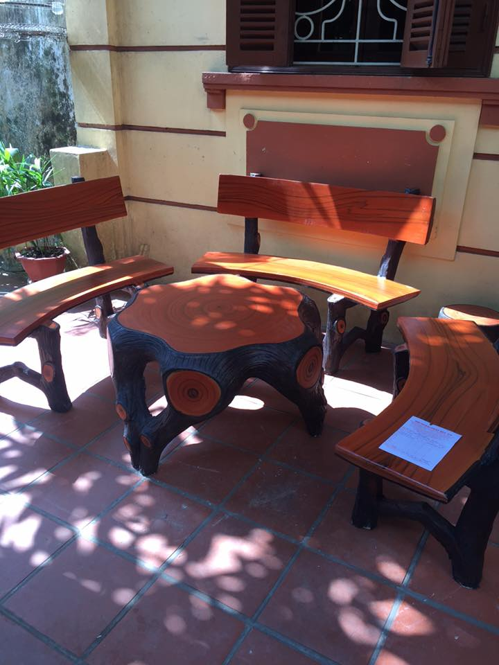 địa chỉ bán bàn ghế xi măng giả gỗ hà nội