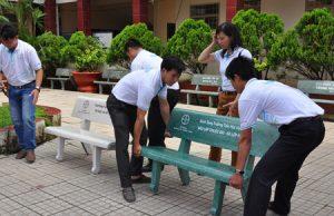 ghế đá sân trường giá sỉ