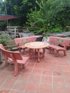bàn ghế đá sân vườn mls mai lan 5