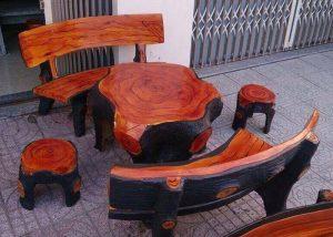 bán ghế đá giả gỗ