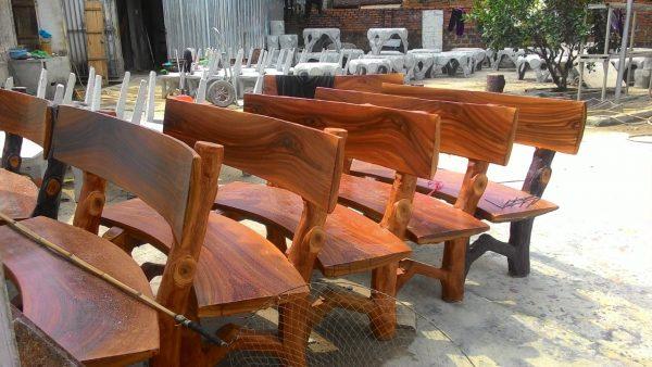 ghế xi măng gốc cây