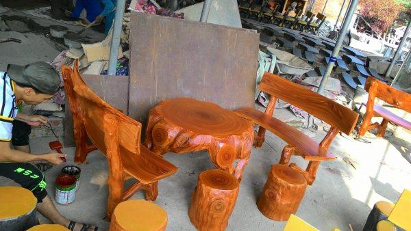 ghế đá giả gỗ giá rẻ hà nội 1