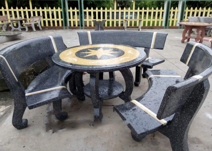bàn ghế đá granito nk8
