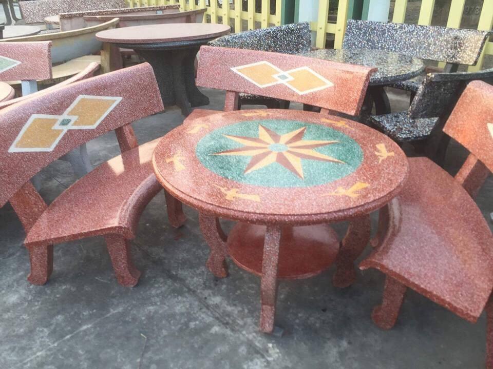 bàn ghế đá granito nk10