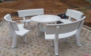 bàn ghế đá ngoài trời mls98