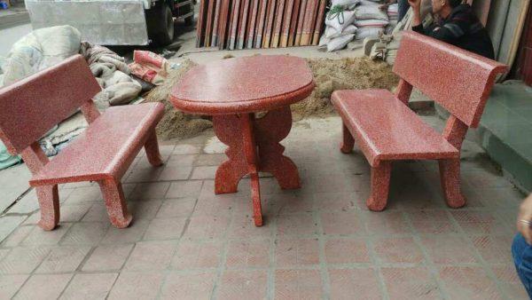bàn ghế đá một màu