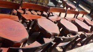 bộ bàn ghế xi măng gốc cây đẹp