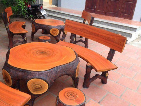 bàn ghế giả gỗ 209