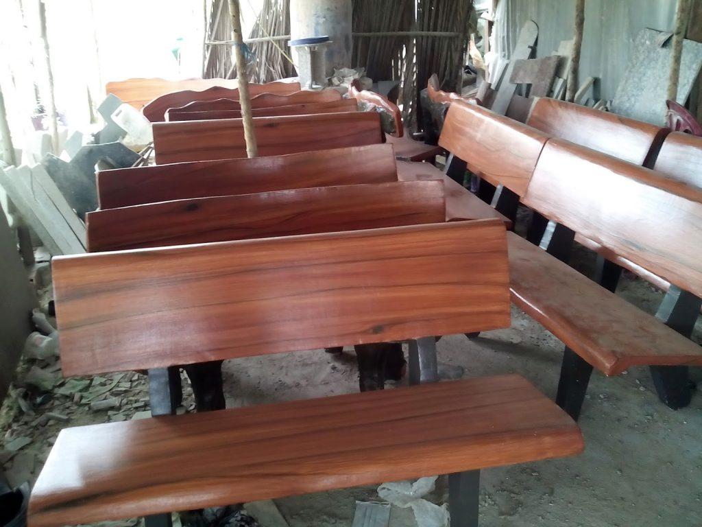 ghế đá giả gỗ giá rẻ hà nội