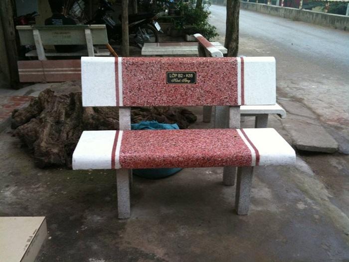 bàn ghế đá công viên nl10