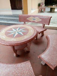 Lựa chọn vị trí đặt bàn ghế đá granito thích hợp