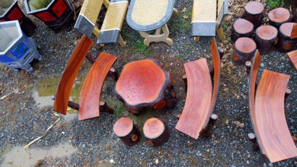 Bộ bàn ghế xi măng giả gỗ MLX686