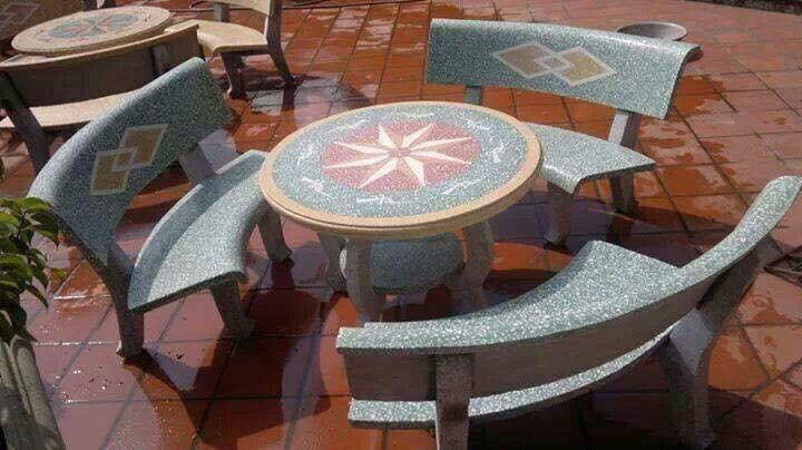 bàn ghế đá sân vườn đẹp miền bắc 13