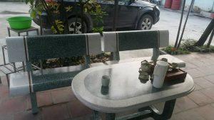 bàn ghế đá granito 68