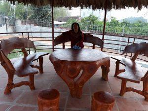 bàn ghế giả gỗ 134