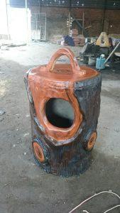 thùng rác giả gỗ 1