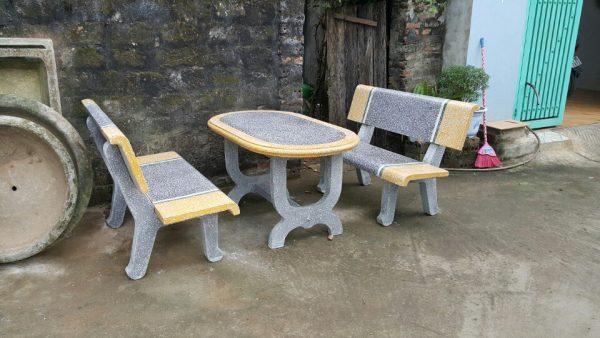 bàn ghế đá granito 216