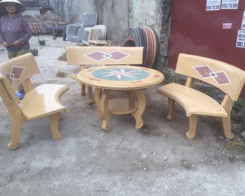 bộ bàn ghế đá đẹp