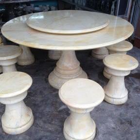 bộ bàn ghế đá tự nhiên 1