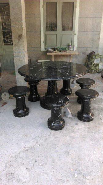 bộ bàn ghế đá tự nhiên