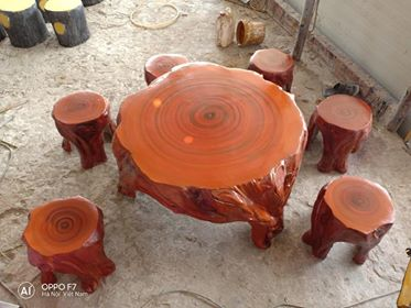 bàn ghế giả gỗ d3