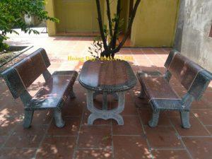 bàn ghế đá cung tiến