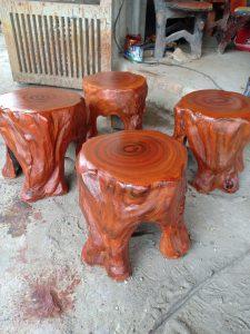 Cung cấp ghế xi măng giả gỗ miền Bắc giá sỉ, bền đẹp
