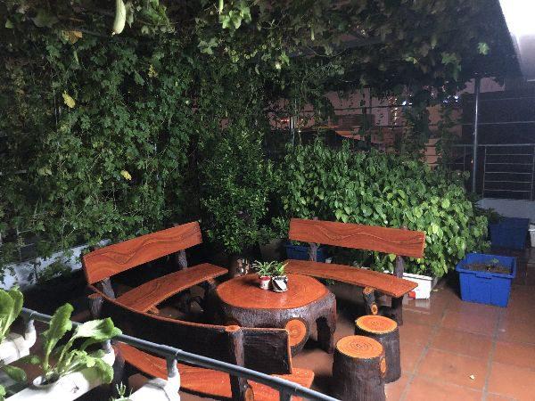 bàn ghế giả gỗ n1