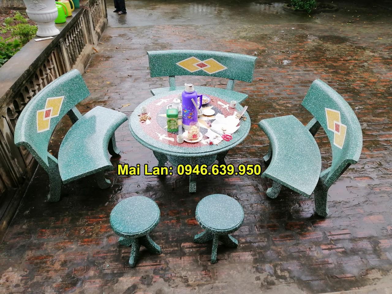 bộ bàn ghế đá sân vườn đẹp