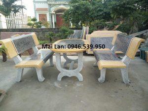 bộ bàn ghế đá ngoài trời giá rẻ