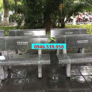 ghế đá công viên đen