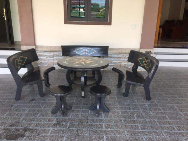 bàn ghế đá sơn la