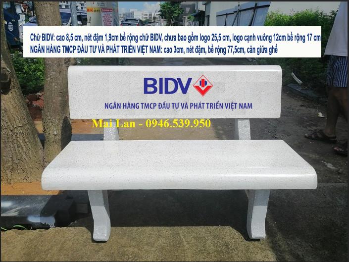 ghế đá BIDV
