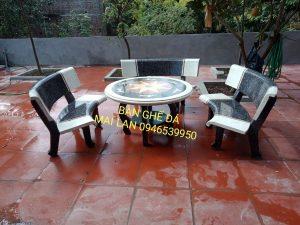 bàn ghế đá ml70