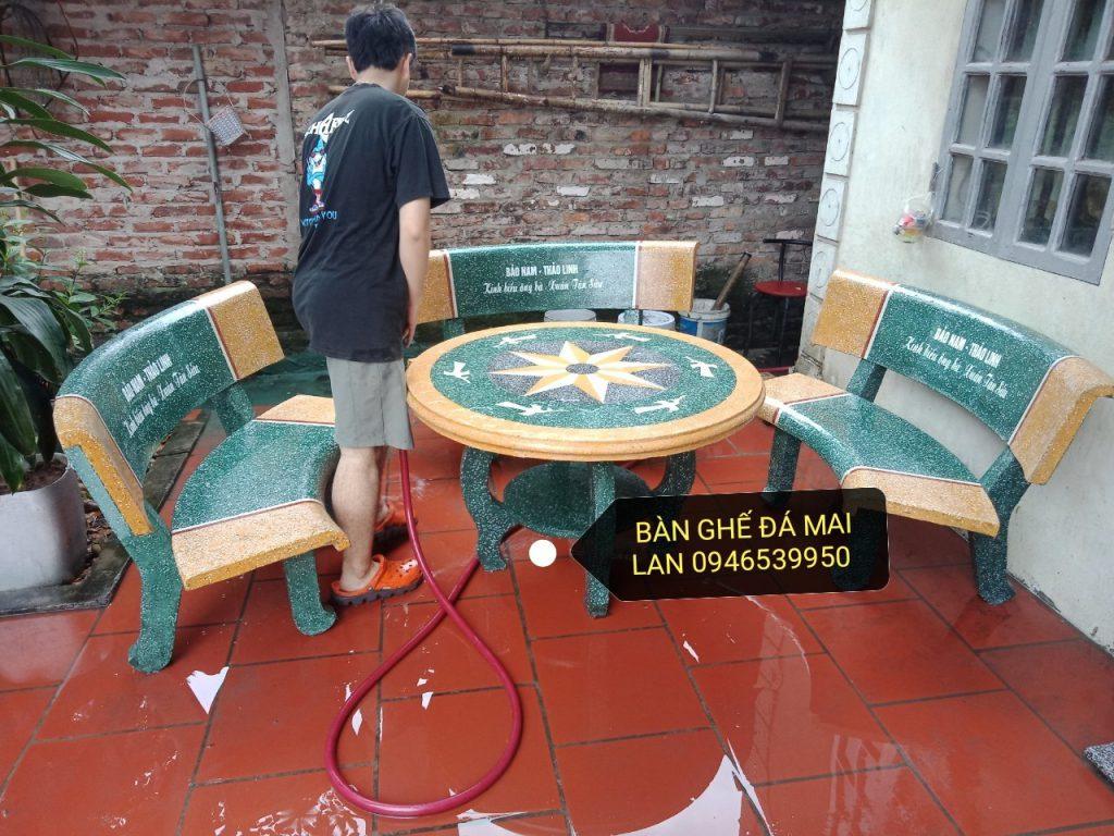 bàn ghế đá ml72