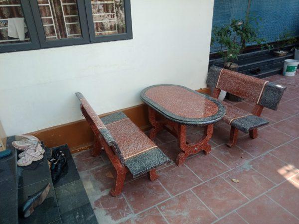 bàn ghế đá công viên A78
